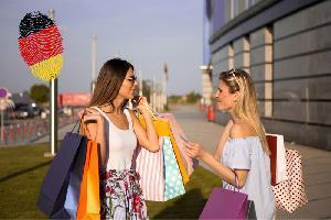 Shopping Tag am Tag der deutschen Einheit